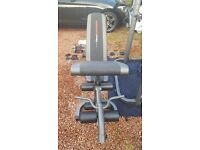 Weiderpro home gym with barbell and loadable dumbbells