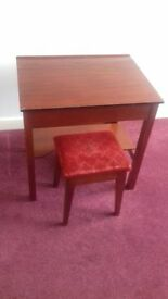Childs schooldesk and stool
