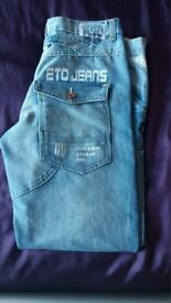 New Mens Designer Limited Edition Eto Jeans Eto Raw 9901.