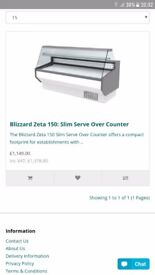 Over counter serve fridge