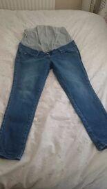Next ultimate maternity skinny jeans 14 short length