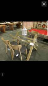 GLASS DINING TABLE in box sale on last 2