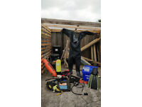 assortment of diving g equipment