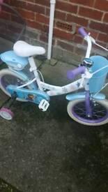 Frozen 14inch girls bike £30