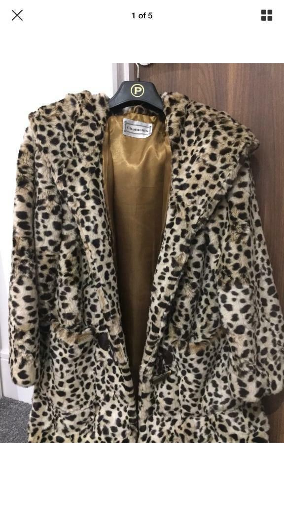 Faux Fur Coat - Size 12