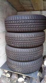 4 Landrover Disco tyres Goodyear Wrangler 235/70 R16 as new.