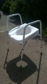 Adjustable hight and width toilet frame/seat