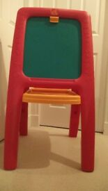 SOLDChild's Easel Step2 Easel For Two with Magnetic Letters/Numbers- in box- in excellent condition.
