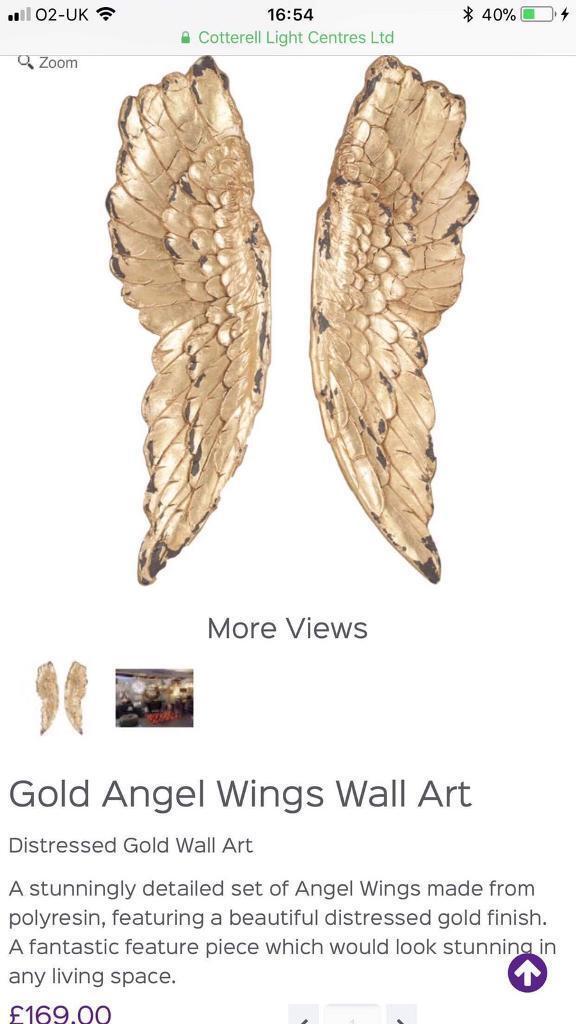 Golden Angel Wings - Wall Art