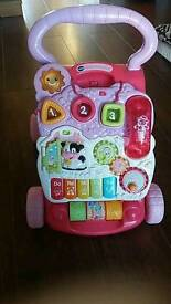 Vtech baby walker pink. Good condition