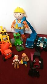 Bob the Builder vehicles and talking figure