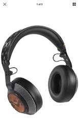 House of Marley liberate blue tooth headphones.