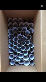 50 standard toilet roll inner cardboard tubes
