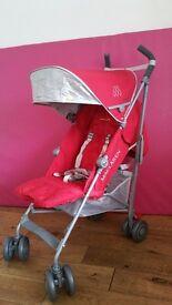 Maclaren Quest Stroller - Cardinal & Silver - EX dISPLAY NEW CONDITION