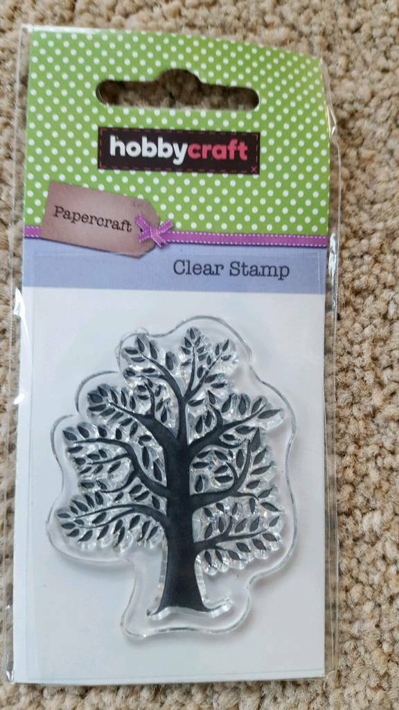 HOBBYCRAFT TREE CLEAR RUBBER STAMP - BRAND NEW
