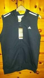 Boys navy blue addidas waistcoat