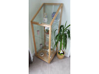 Ikea glass and wood display cabinet