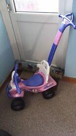 Push along ride on pink quad