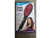 JML simply straight heated ceramic brush - Still in box, never used.