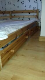 Pine Wooden Bed Frame (SINGLE)
