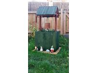 planter / garden well / wishing well nearly 4 feet high with wooden bucket , please ring not txt