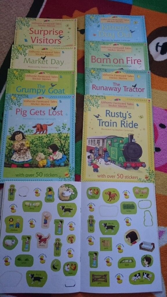 9 leaning sticker books