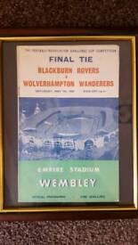 1960 Blackburn Rovers v Wolves Final Tie Football match programme