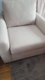 John lewis grey armchair