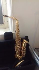 One year old saxophone. Used just a few times