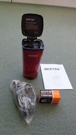 BESTEK 200W 12V 24V 3-Socket Cigarette Lighter Car Charger with 4.2A Dual USB Charging Ports