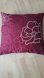 Crimson Colour Cushions x4