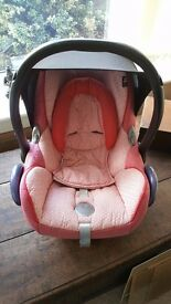 Pink Maxi Cosi Baby Seat and Baby Carrier