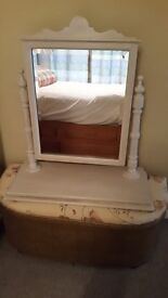 Old Pine Dressing table mirror