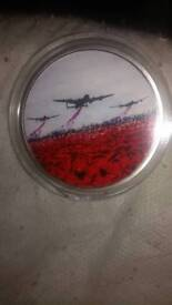 War poppy collection coins