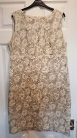 Size 18 Romans Origional Grey with flower design dress