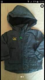 Worn once DEBENHAMS 0-3 months jacket coat
