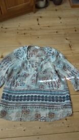 etnic blouse by M&S size 14/16 lovely worn once polyester Go Glastonbury