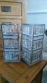 Laura ashley pair of crystal touch lamps