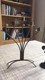 Vintage candelabra and candle sticks ( x2)
