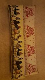 2x Draught Excluders