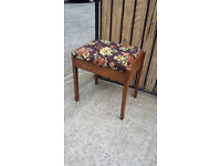 old piano type wood stool
