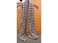 Black & white shawl/ scarf