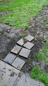 Free to collect smallpile of old house bricks and broken slabs