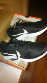 Brand New Nike Downshifter 7 black and white trainers