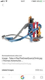 Thomas take and play the great quarry climb