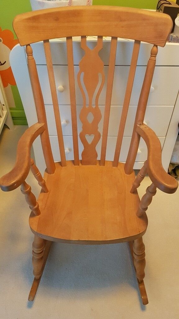 separation shoes 89033 0ea83 Rocking chair solid wood | in Maidstone, Kent | Gumtree