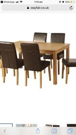 Delaney dining table with chairs
