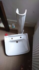 Bathroom pedestal sink brand new