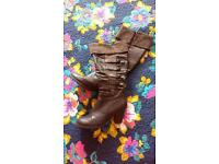 Ladies size 6 boots. Like new.