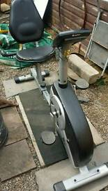 Exercise bike recumbent magnetic Rodger black